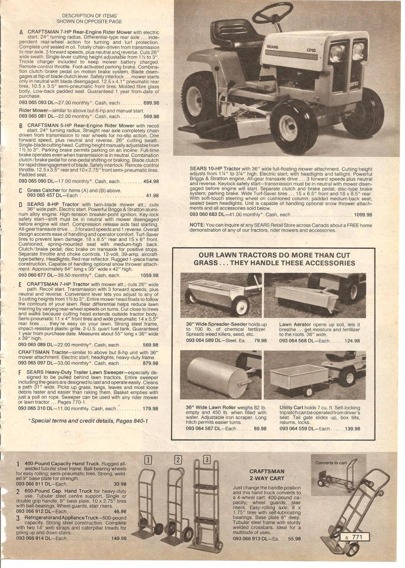 History of craftsman tractors 1946 2013 for Sears craftsman