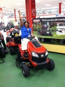 Aurora With Her New 2014 Craftsman Yard Tractor